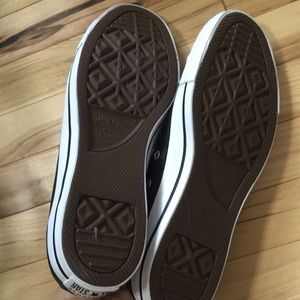 Converse Shoes - Brand New Black Leather Lowtop Converse